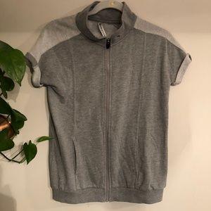Fabletics Short Sleeve Zip Sweatshirt Womens XS